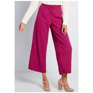 Modcloth Magenta Retro Wide Leg Pants